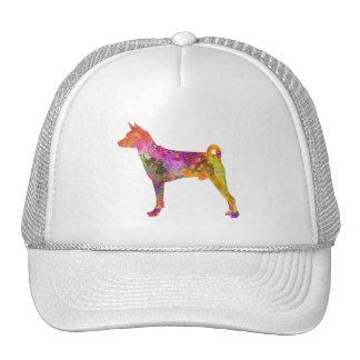 Basenji in watercolor 2 cap