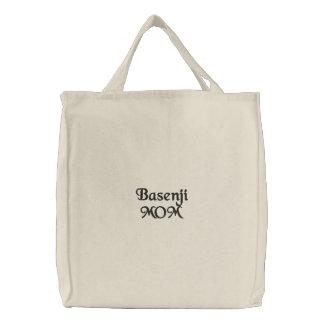 Basenji Mom Embroidery Embroidered Tote Bag