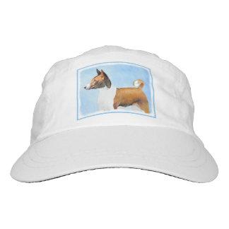 Basenji Painting - Cute Original Art Hat