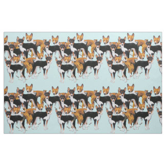 Basenji seamless pattern fabric