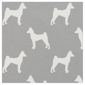 Basenji Silhouettes Pattern Fabric
