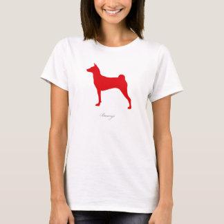 Basenji T-shirt (red silhouette)