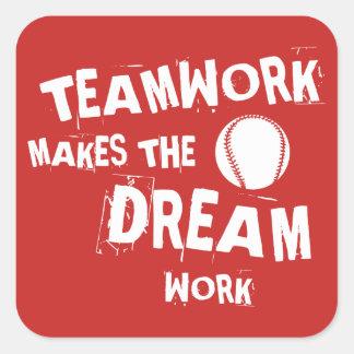 Basesball Teamwork Sticker