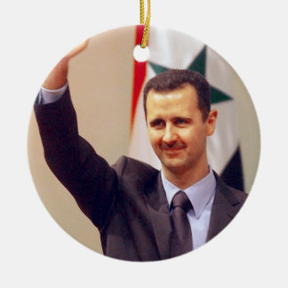 Bashar Al Assad of Syria Ceramic Ornament