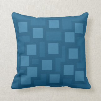 Bashful Blue Pillow/Cushion Vers 1 Squares Cushion