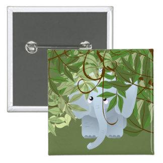 Bashful Elephant Jungle  Animals Party Button