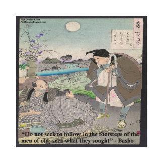 Basho & Famous Quote Canvas Print