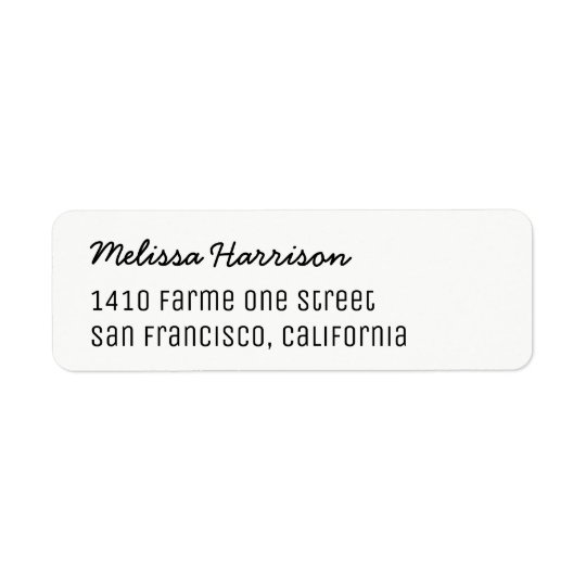 basic address label with script name