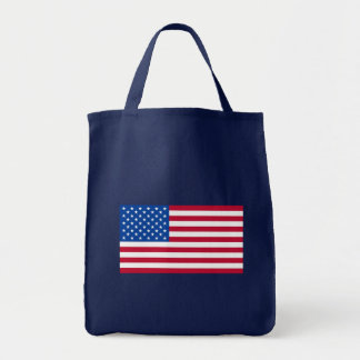 Basic American Flag Products Grocery Tote Bag