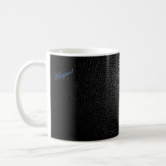Basic and elegant Black Leather style mug