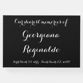 Basic and Simple Condolences Guestbook