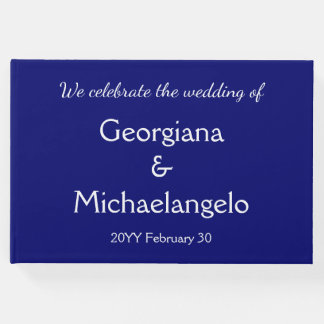 Basic and Simple Marriage Guestbook