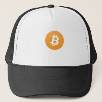 basic bitcoin line trucker hat