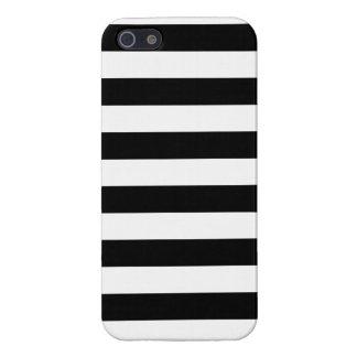 Basic Black and White Stripes iPhone 5 Case