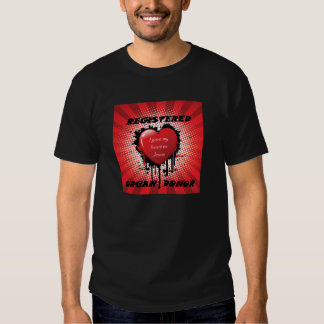 Basic Black Tee-Registered Organ Donor for Jesus Tee Shirts