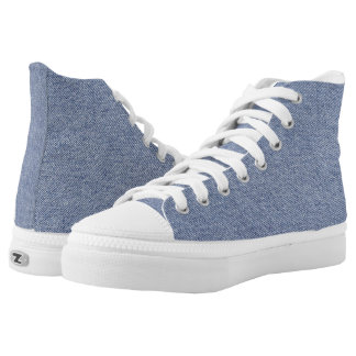 """Basic Blue Jean Denim """"Textured Image"""" in Blue Printed Shoes"""
