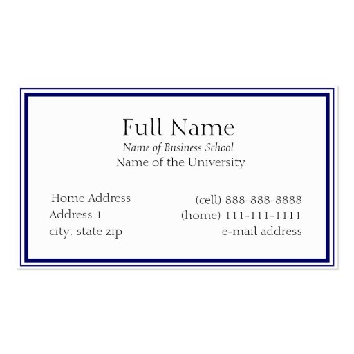 Basic Business Card for Students or Company : Zazzle