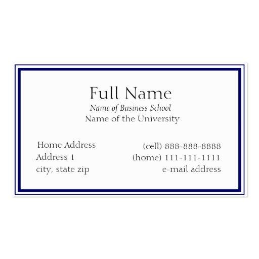 Student business cards template robertottni student business cards template flashek Image collections