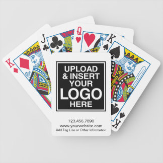 Basic Business Logo with custom text Bicycle Playing Cards