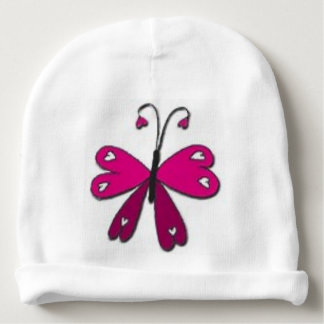 Basic Butterfly Baby Beanie