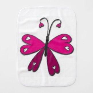Basic Butterfly Burp Cloth