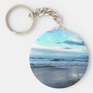 Basic Button key Chain Beach.