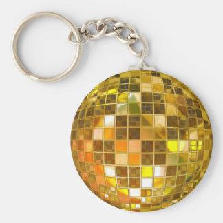 Basic Button Key chain Golden Ball
