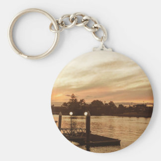 Basic Button key Chain Sunset.