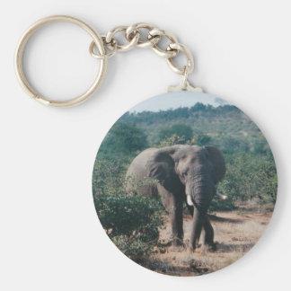 Basic Button Keychain Elephant home