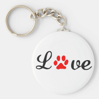 Basic Button Keychain love pets