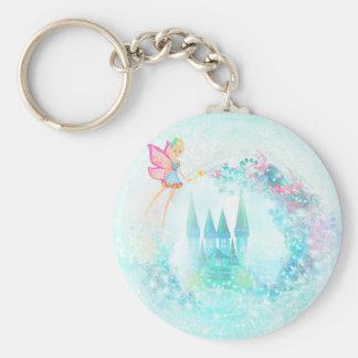 Basic Button Keychain -  Magic Fairy Tale castle