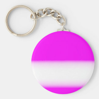 Basic Button Keychain  Pink and White Your Name Key Chains