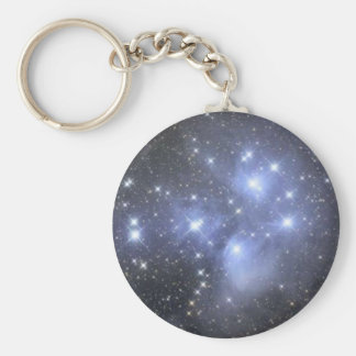 Basic Button Keychain  Pleiadians Seven Sisters