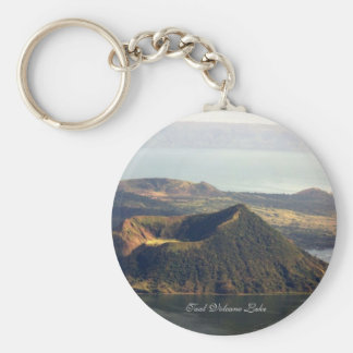 Basic Button Keychain, Taal Volcano Lake Key Ring