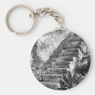 Basic Button Keychain Tavira castle steps