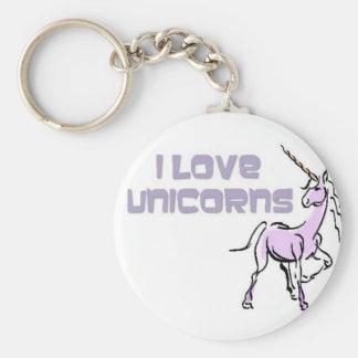Basic Button Keychain_ Unicorns Add name customize Keychains