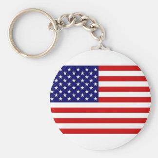 Basic Button Keychain United States of Freedom