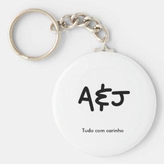 Basic Chaveiro A&J 5,7cm Basic Round Button Key Ring
