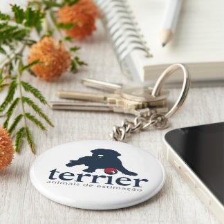 Basic Chaveiro - Terrier Basic Round Button Key Ring