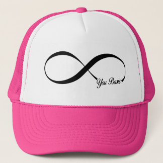 BASIC CHICK INFINITY TATTOO PINTEREST IDEA FUNNY TRUCKER HAT