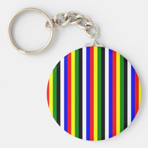 Basic Colors Stripe Keychain