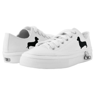 Basic Dachshund Silhouette Low Tops