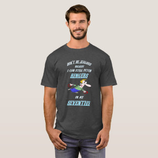 Basic Dark HorseShoe Pitching Tee- Seventies T-Shirt