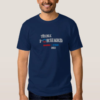 Basic DK T-Shirt Obama - Biden 2012 Think Forward