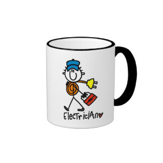 Basic Electrician Tshirts and Gifts Ringer Coffee Mug