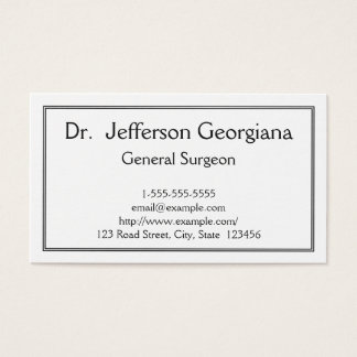 Basic General Surgeon Business Card