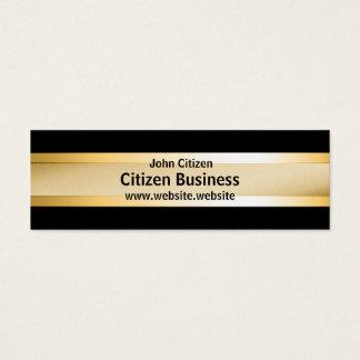 Basic gold on black mini business card