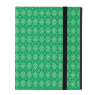 Basic Green Argyle iPad Folio Case