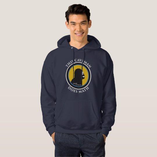Basic Hoodie: Math Smart Caveman Hoodie
