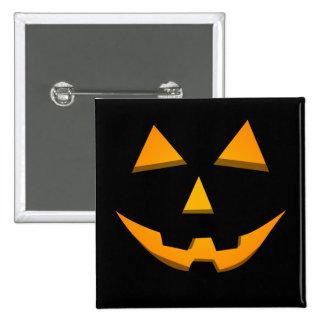 Basic Jack-O-Lantern Black W Orange Glow Buttons